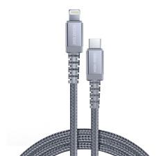 Dux Ducis Space MFI Nylon Ladekabel USB Type C PD 18W / Lightning 1m 3A grau