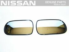 NISSAN GENUINE RHD S13 Silvia Right & Left Door Side Mirror Lens Set OEM JDM