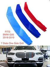 NEW M POWER LOGO KIDNEY GRILL 3D 3 COLOUR COVER ABS STRIPS BMW X5 G05 2018-2019