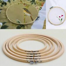 Wooden Cross Stitch Machine Embroidery Hoop Ring Bamboo Sewing Tools