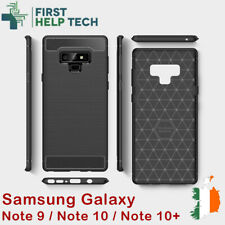 Rugged Armor Cover For Samsung Galaxy Note 9 10 Plus Case Carbon Fiber Design