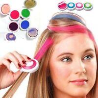 4pcs Hot Huez Hues Non-toxic Temporary Hair Chalk Dye Soft Pastels Salon Kit