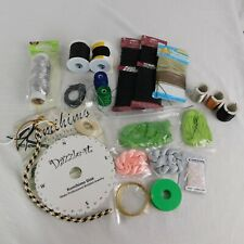 Lot of Craft Twine Cord Wire Chain Dazzle-It Board Jewelry Making Black Brown