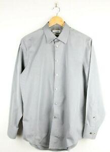 CLAVIN KLEIN MENS Business Shirt - Sz 15 1/2 32/33 M Button Up Cotton CK Grey