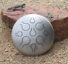 "12"" STAINLESS Steel Tongue Drum - Handpan - Vibedrum - Natural - Standard"