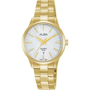 Alba Prestige Women's Gold Stainless Steel Watch AH7W36X5