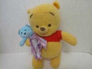 "Fisher Price 2004 Winnie The Pooh 10"" Lovey Plush Stuffed Animal Rattle"