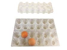 50 Contenitori/Confezioni portauova da 6 uova in plastica