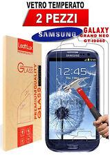 PELLICOLA VETRO TEMPERATO per Samsung Galaxy GRAND NEO PLUS  I9060I  **2-Pack**
