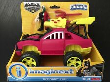 """Imaginext TWO FACE & SUV Super Friends DC Comics 2.5"""" Fisher Price Car NEW 3+"""