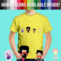 8-bit Steven Universe Amethyst Garnet Pearl Cute Toddler Kids Tee Youth T-Shirt