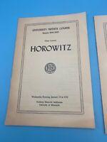 UNIVERSITY OF MINNESOTA 1944-45 ARTIST COURSE HOROWITZ 8 PAGE PROGRAM