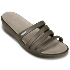 Crocs Relaxed Fit 14706-23D New Womens Rhonda Wedge Sandals Size 11