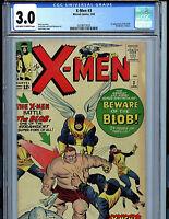X-Men #3 CGC 3.0 Marvel Comics 1964 1st Blob Kirby Art Stan Lee K9