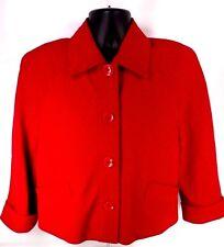 JONES NEW YORK SIGNATURE WOMEN COTTON/POLYESTER BLAZER COAT RED SIZE 10