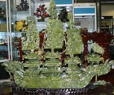 "FACTORY SALE: LARGE 38"" GREEN JADE DRAGON BOAT (BJ100)"