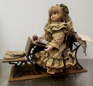 Very Rare ETTA a Pat Thompson Vlasta Doll School Desk Limited Edition #1/75/250