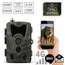 4G MMS Cellular 16MP HD Video Game Wildlife Stealth Hunting Trail Camera Cam