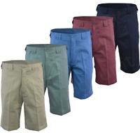 Mens Casual 100% Cotton Chino Summer Expandable Walking Shorts Big Size 32-54