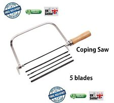 Amtech Metal Coping Saw Tool with 5 Assorted Blades
