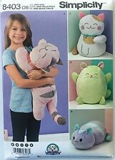 SIMPLICITY SEWING PATTERN 8403 Stuffed Kitties Kitten Cat Cats