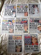 Princess Diana Wedding Plans Tears & more partial newspapers from England X-Rare