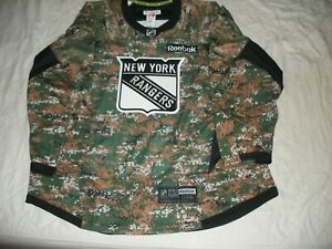 Game Issued New York Rangers Military Camo Jersey * Dylan McIlrath * Steiner