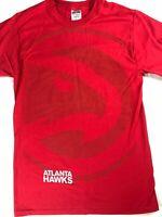 Atlanta Hawks T-Shirt Adult SZ M/L Big Logo NBA Basketball Georgia Red Tee Mens
