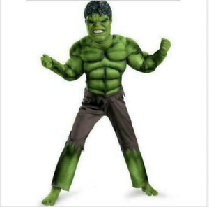 Deluxe Incredible Hulk Age 3-8 Boys Fancy Dress Kids Marvel Avengers Costume2021