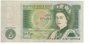 Page Pound £1 Banknote A78 First Run 1978