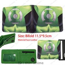 DC Comics Green Lantern Wallet Men Bifold Leather Green Colour Purse TV  Around
