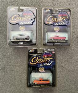 Lot of Three 2001 Jada Lowriders Series  '59 Chevy El Caminos NIB