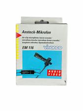 More details for vivanco tie-clip microphone em 116 | black | tested