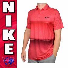 Nike Men's Size XL Mobility Stripe Golf Polo Shirt Standard Fit 725537 Red NWT