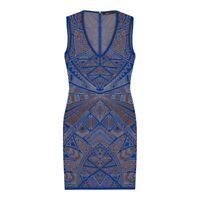 BCBG Maxazria Blue Iris Knit Bodycon Cocktail Dress Size XS UK 8 | RRP £290