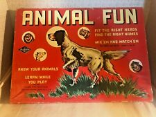 VINTAGE ANIMAL FUN GAME, WARREN PAPER PRODUCTS MIX EM & MATCH EM, BUILT RITE TOY