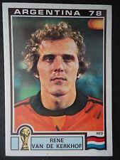 Panini 126 Rene van de Kerkhof Niederlande WM 78 World Cup Story
