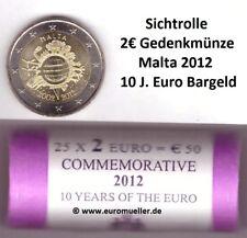 Malta Rolle 2 Euro Gedenkmünze 2012 - 10 Jahre Euro Bargeld