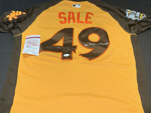 Chris Sale White Sox Red 2016 All Star Autographed Signed Jersey JSA WITNESS COA
