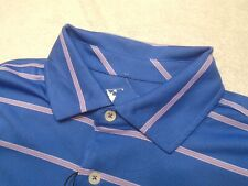 Fairway & Greene Performance Fabric Blue Stripe Polo Golf Shirt NWT Small $95