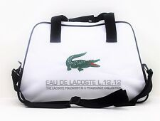 LACOSTE  WHITE MENS SPORT/ GYM BAG *NEW