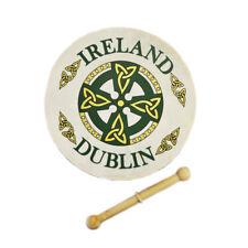 "8"" Bodhran With Dublin Celtic Cross Design"