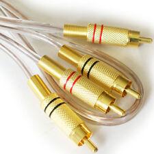 1M Qualità Premium 2 RCA Maschio a Spina Cavo / lead -- ORO PHONO Schermato Audio Amp