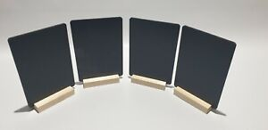 A5x8 TABLE TOP CHALKBOARDS + A PACK OF 8 COLOUR LIQUID CHALK PENS - NAT BASE