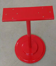 """1 Red Double Metal Stand for 2 Gumball Candy Toy Bulk Vending Machines. Base13"""""""