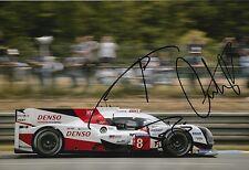 BUEMI, Nakajima, DAVIDSON firmato a mano Toyota Le Mans 2017 foto 12x8 5.