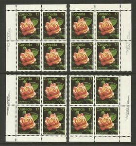 CANADA #896, MNH-VF, MS-PBs: Flowers--Rose Show