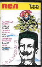 "NADA  DALIDA  PAVONE  CARRA'  VILLANI - RARA CASSETTA MC "" CANZONISSIMA 71 """