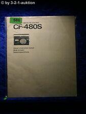 Sony Bedienungsanleitung CF 480S Radio Cassette Corder (#0586)