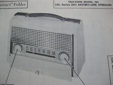 TELE-TONE 190 PORTABLE RADIO PHOTOFACT